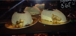 Hazelnut Molten Cake in the gourmet bakery, La Plaza