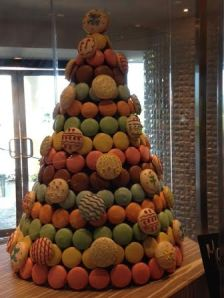 Macaroon Pyramid in the gourmet bakery, La Plaza
