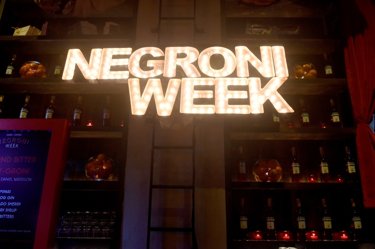 Negroni Week kick-off at The Rag Trader, Monday, June 4, 2018, in New York.